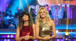 Claudia Winkleman (left) and Tess Daly on Strictly Come Dancing (BBC)