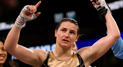 Unified champion Katie Taylor was impressive in New York. Photo: Stephen McCarthy/Sportsfile