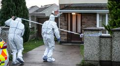 Forensic: Scene of the death of a 65-year old man at Johnswood Drive, Ashbourne, Co Meath. Photo: Kyran O'Brien