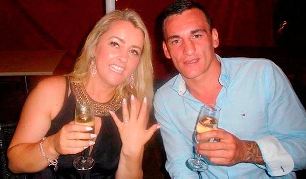 'Stormy relationship': Cathrina 'Tina' Cahill with fiancé David Walsh, who she stabbed to death