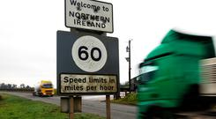 'Asked what preparations are being made for the possibility of a hard border with Northern Ireland, the Government insists there are none as all sides are working to prevent this happening.' AP Photo/Peter Morrison