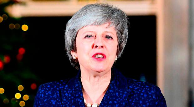 Prime Minister Theresa May makes a statement in 10 Downing Street, London, after she survived an attempt by Tory MPs to oust her with a vote of no confidence. Photo credit: Victoria Jones/PA Wire
