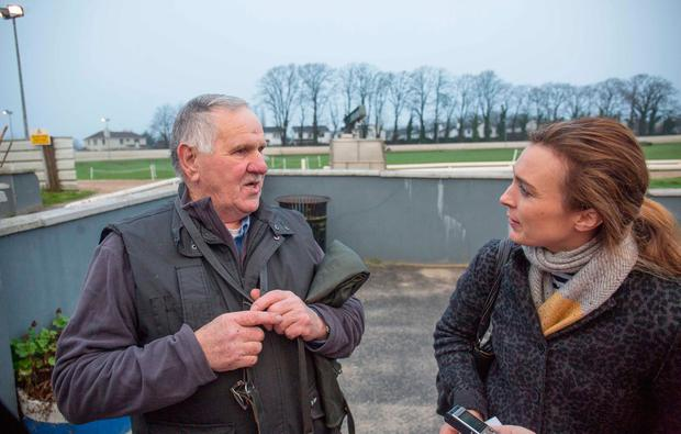 Nicola Anderson with trainer Gerry Dunne. Photo: Pat Moore