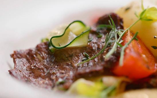 Meaty: Aleph Farms used natural beef cells to grow a minute steak. Photo: Aleph Farms