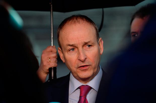Decision: Micheál Martin said he had to put 'stability and the national interest' first. Photo: Caroline Quinn