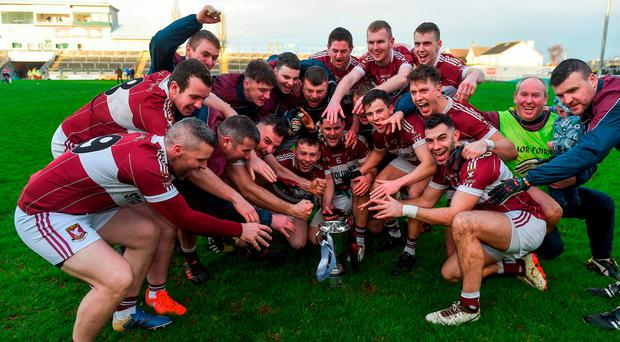 Mullinalaghta's victorious GAA team join host Ryan Tubridy on tomorrow night's Late Late Show. Photo: Daire Brennan/Sportsfile