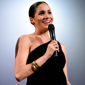 Meghan, Duchess of Sussex on stage during The Fashion Awards 2018 In Partnership With Swarovski at Royal Albert Hall on December 10, 2018 in London, England. (Photo by Joe Maher/BFC/Getty Images)