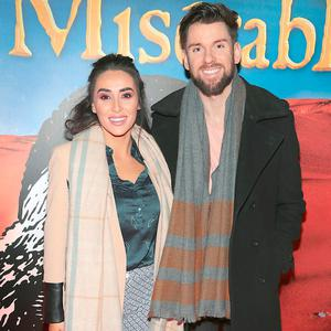Aoife Melia and Eoghan McDermott at the opening night of Les Miserables at the Bord Gais Energy Theatre, Dublin. Picture: Brian McEvoy