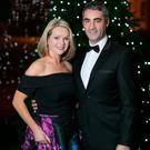 Claire Byrne and her husband Gerry Scollan at the Barnardos Spirit of Christmas 2018. Picture: Patrick Bolger