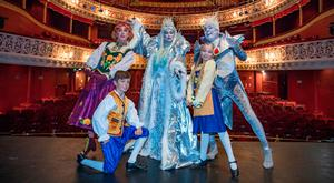 Louise Bowden as the Snow Queen, Nicholas Grennell as