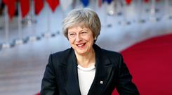 British Prime Minister Theresa May arrives at a European Union leaders summit in Brussels, Belgium December 13, 2018. REUTERS/Francois Lenoir