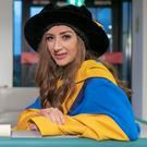 Laura Brennan, 26-year-old patient advocate who restored public confidence in HPV vaccine was conferred with an honorary Degree of Doctor of Literature by University College Dublin. Picture: Iain White/Fennell Photography