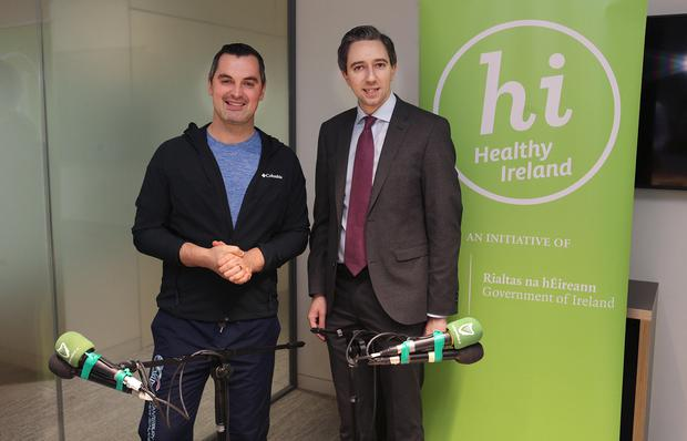Karl Henry pictured with Simon Harris, Minister for Health