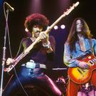 Makings of a supergroup: Thin Lizzy's Brian Robertson, Phil Lynott and Scott Gorham in 1978. Lynott and Gorham both performed as part of The Greedy Bastards
