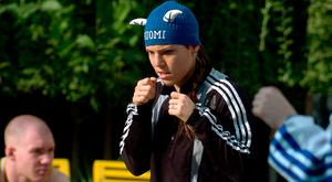 Finnish Boxer Eva Wahlstrom. Photo: AFP/Getty Images