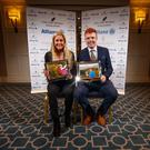 Sara Byrne and Robin Dawson – the women's and men's Amateur Players of the Year. Photo: ©INPHO/Oisin Keniry