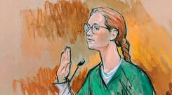 Accused Russian agent Maria Butina. REUTERS/Bill Hennessy
