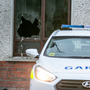 Attack: The house damaged by a petrol bomb in Laurence's Park, Drogheda. Picture: INM