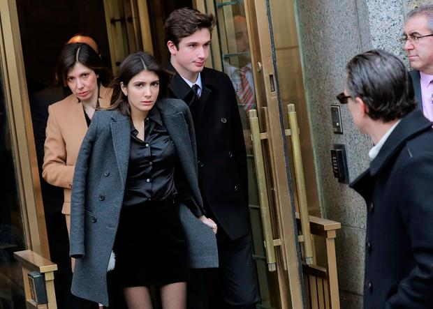 U.S. President Donald Trump's former personal attorney Michael Cohen's wife Laura Shusterman and children, Samantha and Jake, leave after his sentencing at the United States Courthouse in the Manhattan borough of New York City, New York, U.S., December 12, 2018. REUTERS/Brendan McDermid