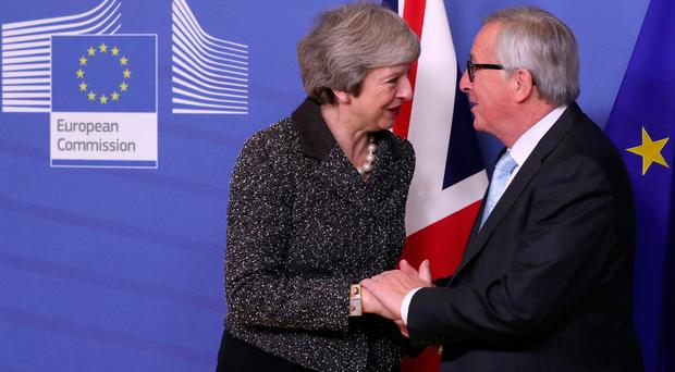 'What did you call me? You called me nebulous' - Theresa May's heated exchange with EU's Juncker