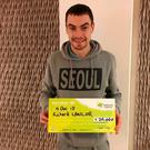 Richard Lawlor (26) from Carlow won €20,000 on a scratch card