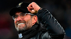Jurgen Klopp's team leads the Premier League after the best top-flight start in Liverpool's history. Photo: Paul Ellis/Getty Images