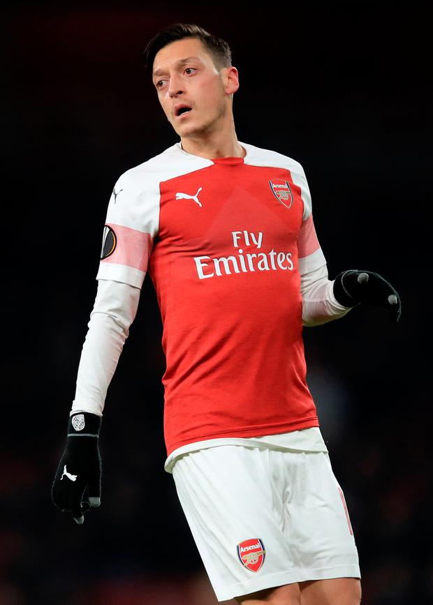 Arsenal's Mesut Ozil. Photo: Marc Atkins/Getty Images