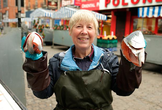 Margaret Buckley, who runs a stall selling fish on Dublin's Moore Street.