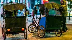 As part of the massive crackdown, gardai have seized at least 25 rickshaws