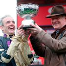 Jockey Ruby Walsh and trainer Willie Mullins. Photo: PA