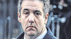 Michael Cohen said Donald Trump 'directed me to make the payments' to the two women. Photo: Jeenah Moon/Reuters