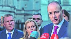 Agreement: Fianna Fáil leader Micheál Martin has extended the Confidence and Supply Agreement. Photo: Caroline Quinn