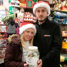 Manager Karen Fox and Graham Keogh from the local Spar shop are raising money. Picture: Damien Eagers