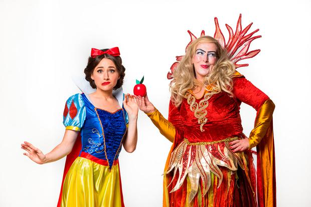 Hayley-Jo Murphy as Snow White & Katherine Lynch as the Wicked Queen