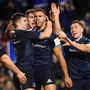 15 December 2018; Adam Byrne of Leinster, centre, is congratulated by team-mates after scoring his side's fourth try during the Heineken Champions Cup Pool 1 Round 4 match between Leinster and Bath at the Aviva Stadium in Dublin. Photo by David Fitzgerald/Sportsfile