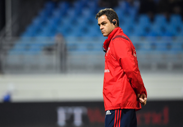 15 December 2018; Munster head coach Johann van Graan prior to the Heineken Champions Cup Pool 2 Round 4 match between Castres and Munster at Stade Pierre Fabre in Castres, France. Photo by Brendan Moran/Sportsfile