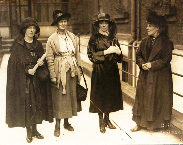 From left, Kathleen Clarke, Constance Markievicz, Kate O'Callaghan and Margaret Pearse in 1921. (Reproduced courtesy of the National Library of Ireland)