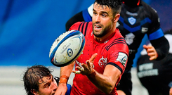Conor Murray is tackled by Florian Vialelle of Castres during yesterday's Champions Cup match at Stade Pierre Fabre. Photo: Brendan Moran/Sportsfile