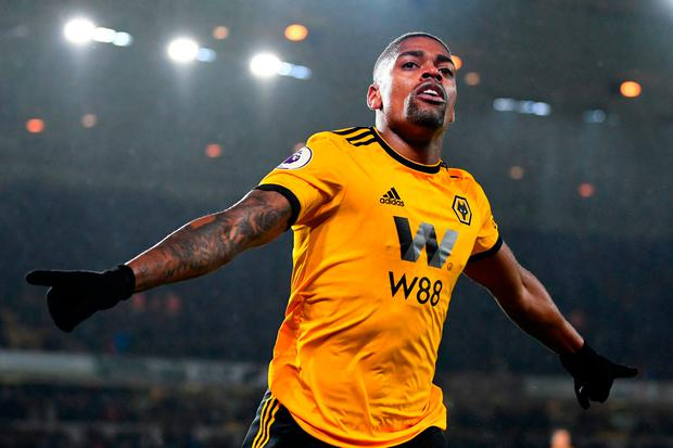 Ivan Cavaleiro of Wolverhampton Wanderers celebrates after scoring his team's second goal. Photo: Getty