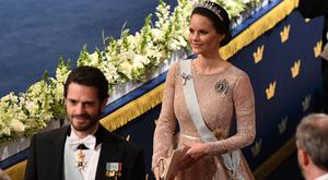 Prince Carl Phillip of Sweden and Princess Sofia of Sweden attend the Nobel Prize Awards Ceremony at Concert Hall on December 10, 2017 in Stockholm, Sweden. (Photo by Pascal Le Segretain/WireImage)