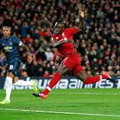 Soccer Football - Premier League - Liverpool v Manchester United - Anfield, Liverpool, Britain - December 16, 2018 Liverpool's Sadio Mane scores their first goal Action Images via Reuters/Carl Recine
