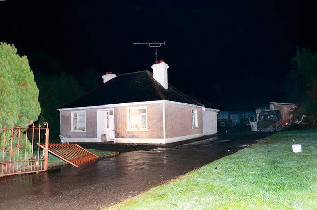 The house and yard where eight security guards were allegedly attacked at Falsk, near Strokestown, Co Roscommon. Picture Credit :Frank McGrath