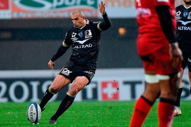 Ruan Pienaar scored 14 points in Montpellier's 34-13 victory over former European champions Toulon. Photo: AFP/Getty Images
