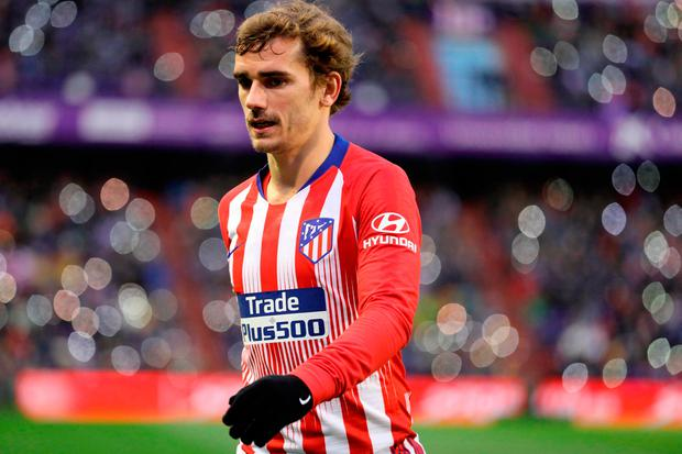 Antoine Griezmann's brace was the difference between Atletico Madrid and Real Valladolid in a thrilling 3-2 victory. Photo: AFP/Getty Images