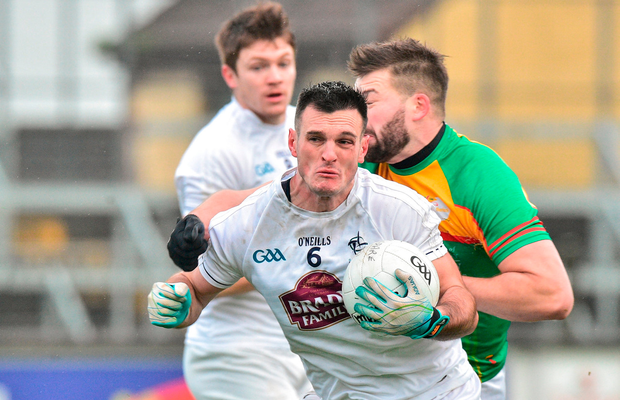 Eoin Doyle of Kildare in action against Ciaran Moran of Carlow. Photo by Matt Browne/Sportsfile