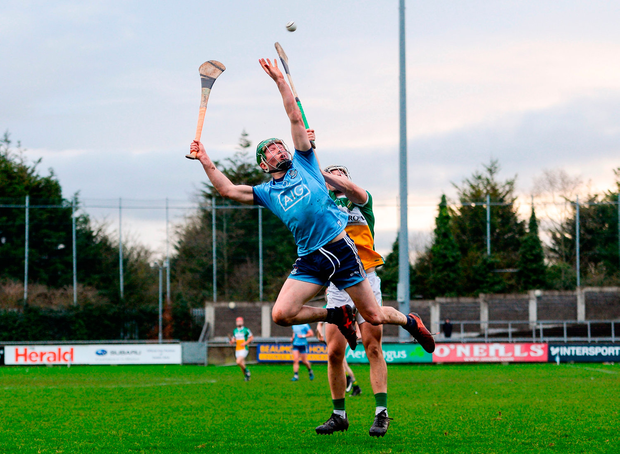 Fergal Whitely of Dublin in action against Craig Taylor of Offaly. Photo by Harry Murphy/Sportsfile