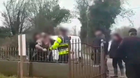 Spark: Still images from a video of the eviction of the occupants of the house last Tuesday