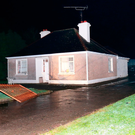 Scene: The house at which eight security guards were attacked at Falsk, near Strokestown. Photo: Frank McGrath