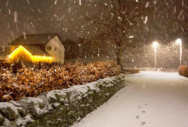Storm Deirdre brought snow to parts of the Scottish Borders. Photo: PA