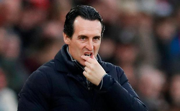 Emery in apologetic mood after his side's draw at Brighton Photo: REUTERS